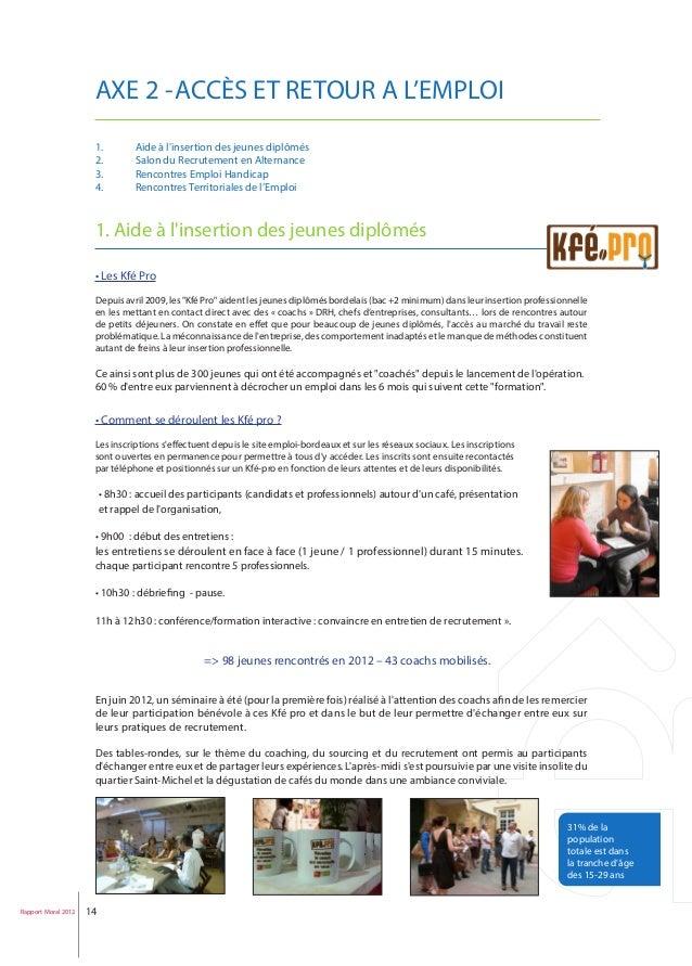 Rapport moral 2012 emploi bordeaux - Salon emploi bordeaux ...