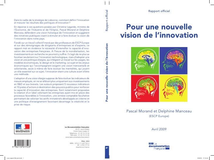 Rapport morand manceau_-_pour_une_nouvelle_vision_de_l_innovation_-_escp_europe_2009