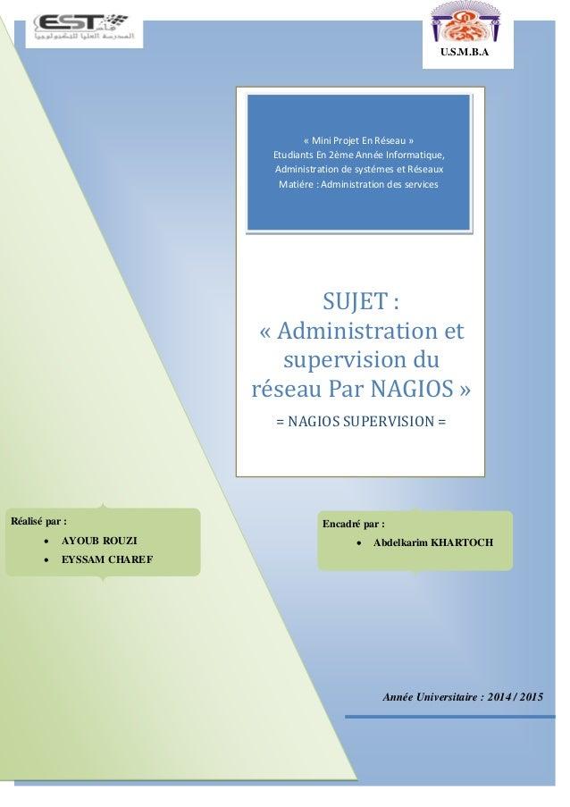 Année Universitaire : 2014 / 2015 « Mini Projet En Réseau » Etudiants En 2ème Année Informatique, Administration de systém...