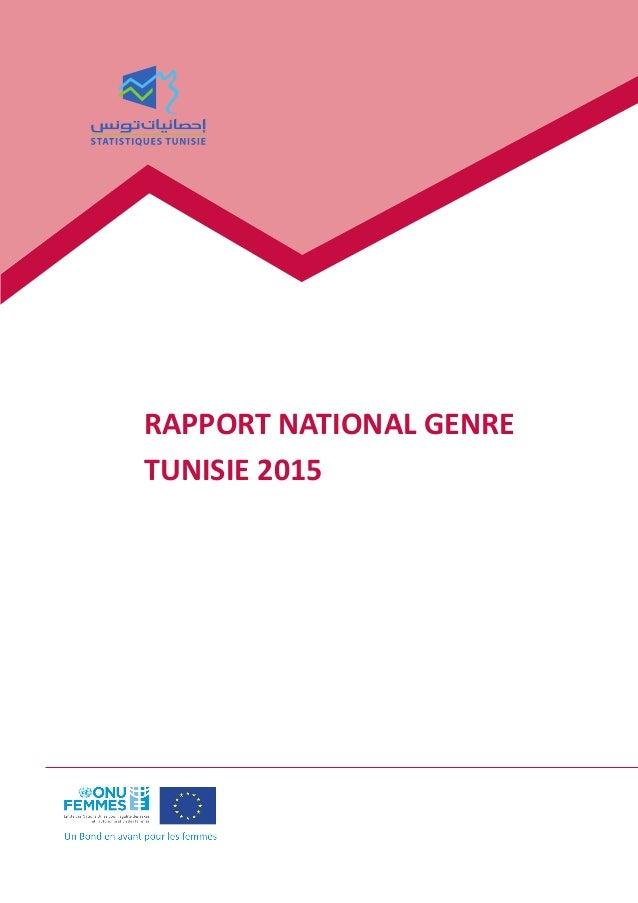 RAPPORT NATIONAL GENRE TUNISIE 2015
