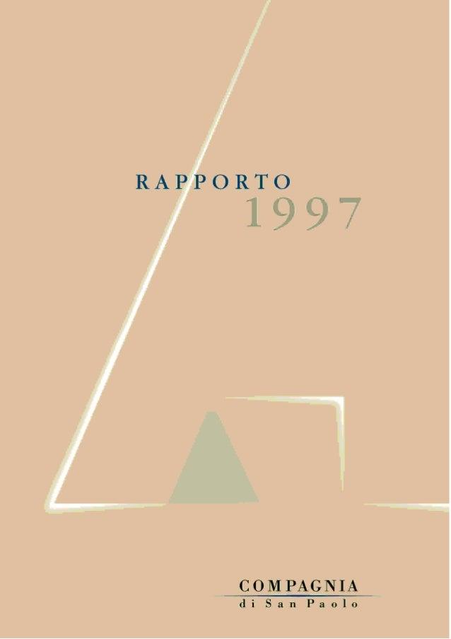 La Compagnia Di San Paolo Rapporto 1997