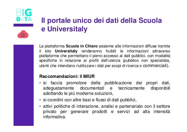 TITOLOLa piattaforma Scuola in Chiaro assieme alle informazioni diffuse tramite il sito Universitaly renderanno fruibili l...