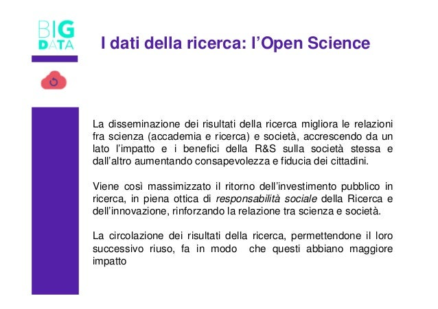 TITOLO La disseminazione dei risultati della ricerca migliora le relazioni fra scienza (accademia e ricerca) e società, ac...