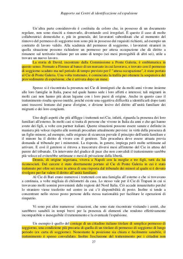 Rapporto cie for Collaboratrici domestiche contratto