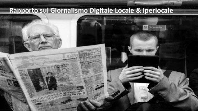 Rapporto sul Giornalismo Digitale Locale & Iperlocale