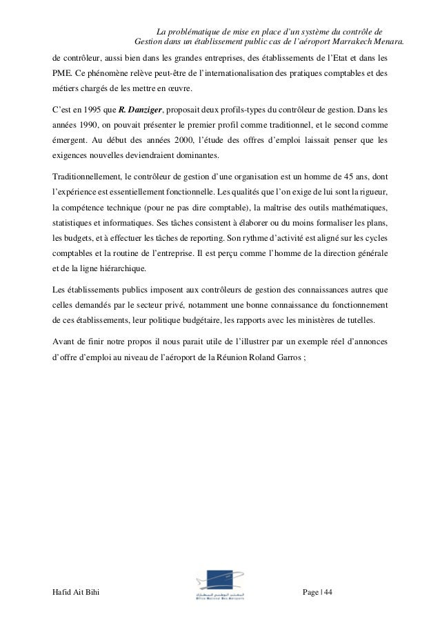 Rapport De Stage Office National Des Aéroport
