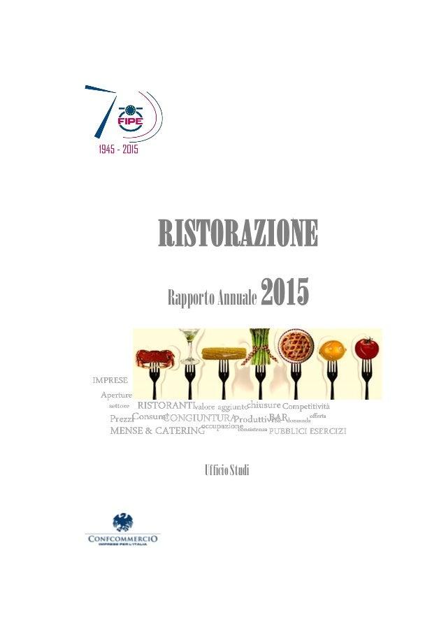 RISTORAZIONE RapportoAnnuale 2015 UfficioStudi