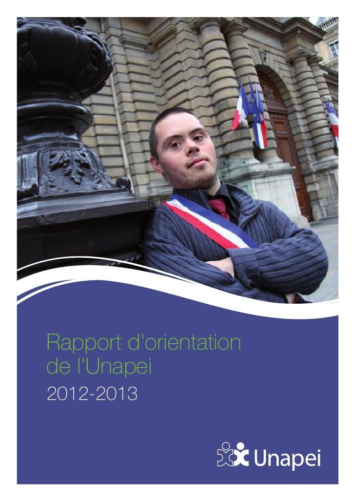 Rapport dorientationde lUnapei2012-2013
