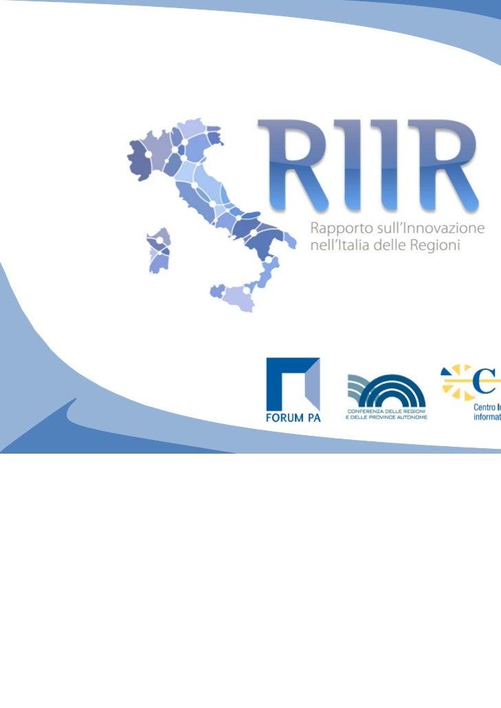 Perché il rapporto RIIR (1/2)                        Informazioni sull'innovazione   Ministero dell'Economia   Ministero  ...