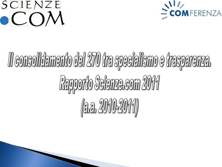 Direzione scientifica: Mario Morcellini, Barbara Mazza                      Coordinamento: Rosanna Consolo                ...