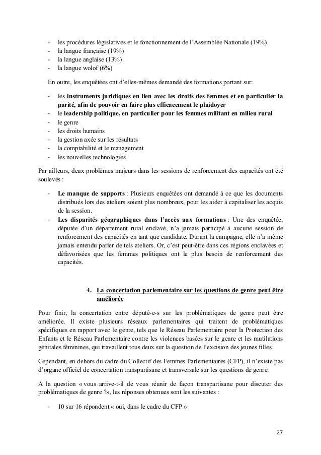 -  les procédures législatives et le fonctionnement de l'Assemblée Nationale (19%) la langue française (19%) la langue ang...