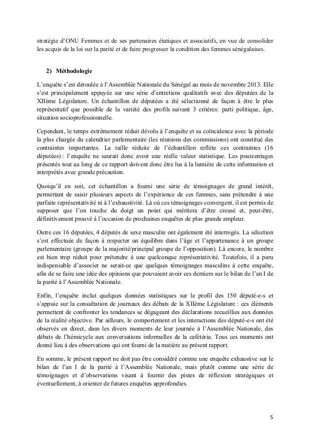 stratégie d'ONU Femmes et de ses partenaires étatiques et associatifs, en vue de consolider les acquis de la loi sur la pa...