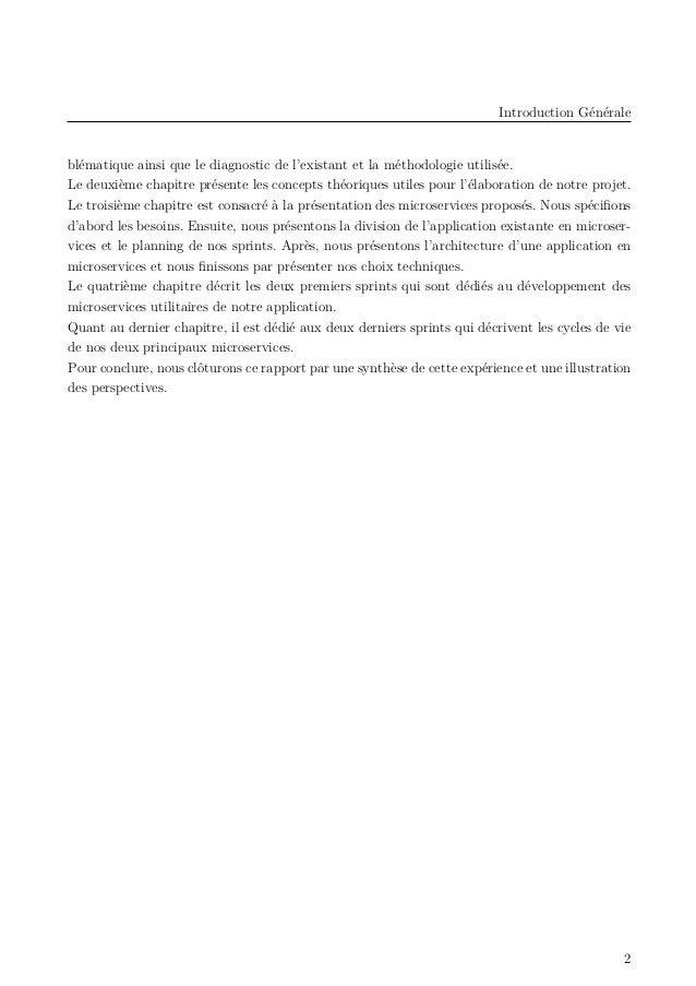 Introduction Générale blématique ainsi que le diagnostic de l'existant et la méthodologie utilisée. Le deuxième chapitre p...