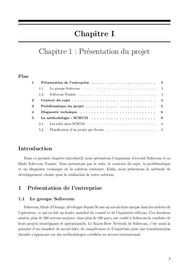Chapitre I Chapitre 1 : Présentation du projet Plan 1 Présentation de l'entreprise . . . . . . . . . . . . . . . . . . . ....