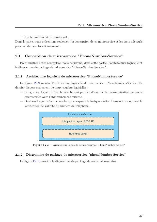 IV.2 Microservice PhoneNumber-Service — 3 si le numéro est International. Dans la suite, nous présentons seulement la conc...