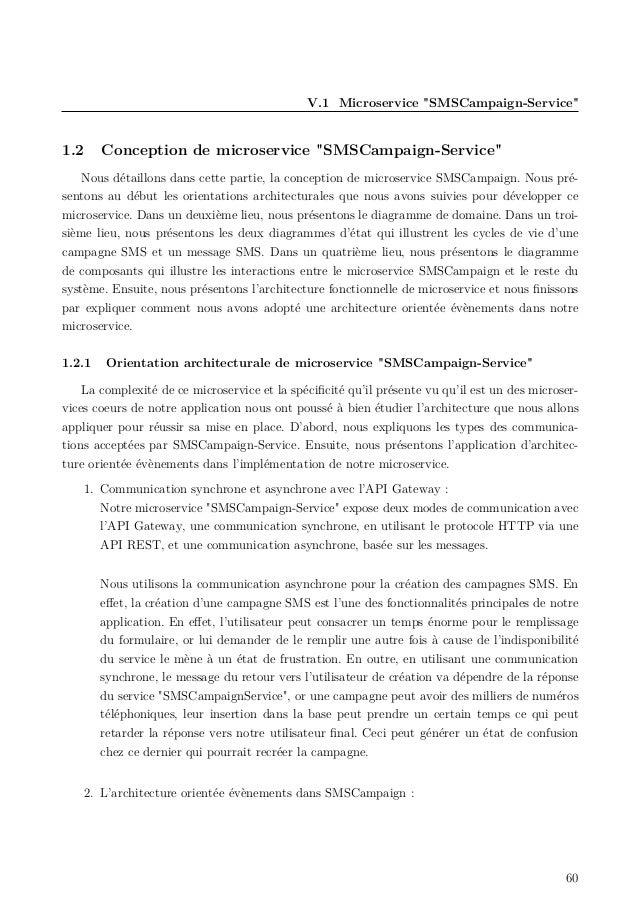 """V.1 Microservice """"SMSCampaign-Service"""" 1.2 Conception de microservice """"SMSCampaign-Service"""" Nous détaillons dans cette par..."""