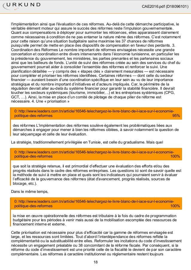 l'implémentation ainsi que l'évaluation de ces réformes. Au-delà de cette démarche participative, le véritable élément mot...