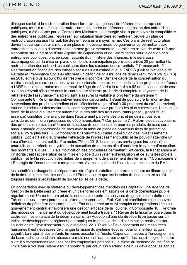 dialogue social et la restructuration financière. Un plan général de réforme des entreprises publiques, muni d'une feuille...
