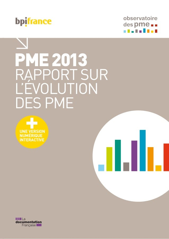 PME2013 RAPPORT SUR L'ÉVOLUTION DES PME UNE VERSION NUMÉRIQUE INTERACTIVE