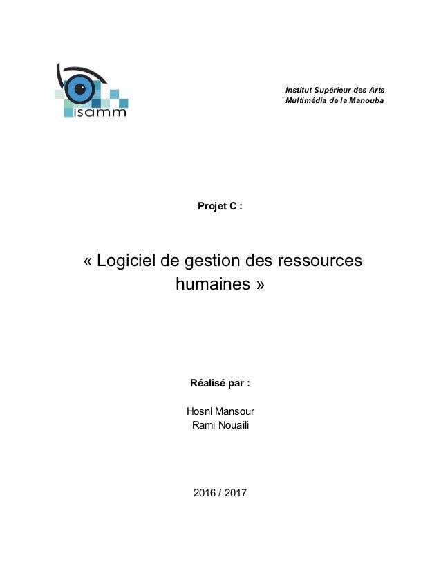 rapport projet c   logiciel de gestion des ressources humaines