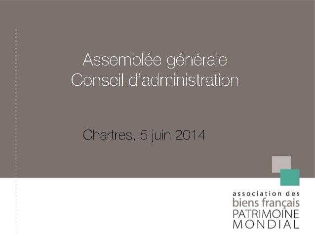 Rapport moral  Rapport financier  Programme d'activités prévisionnel 2014  Budget 2014  Questions diverses : Convent...