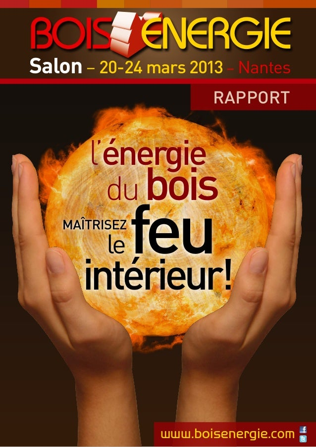 Salon – 20-24 mars 2013 – Nantes RAPPORT  l'énergie du bois le  feu  intérieur!  www.boisenergie.com