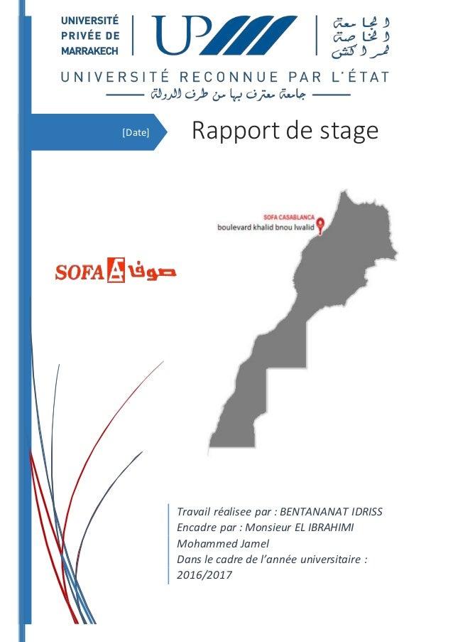 Rapport stage SOFA Maroc