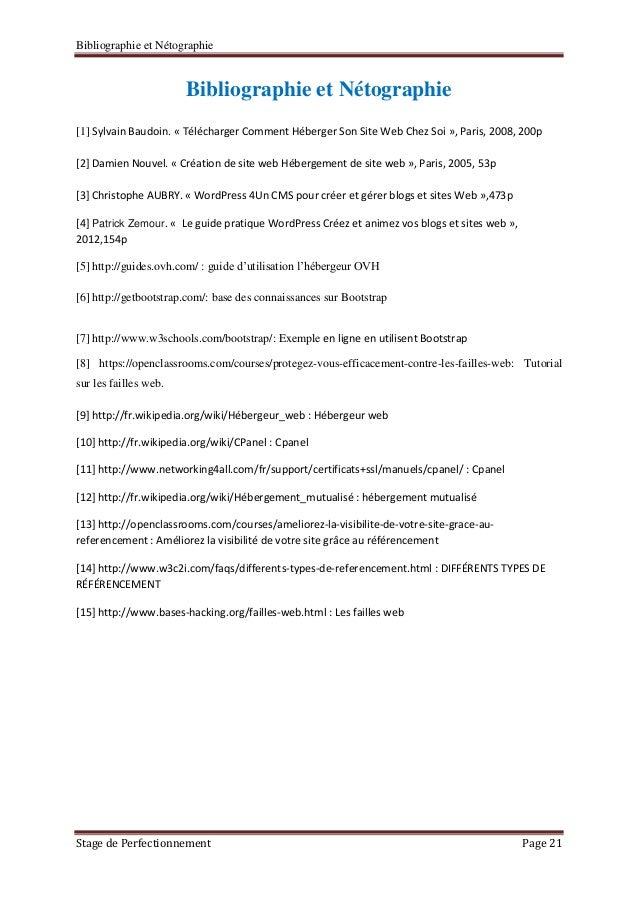 Exemple De Bibliographie Rapport De Stage - Exemple de Groupes