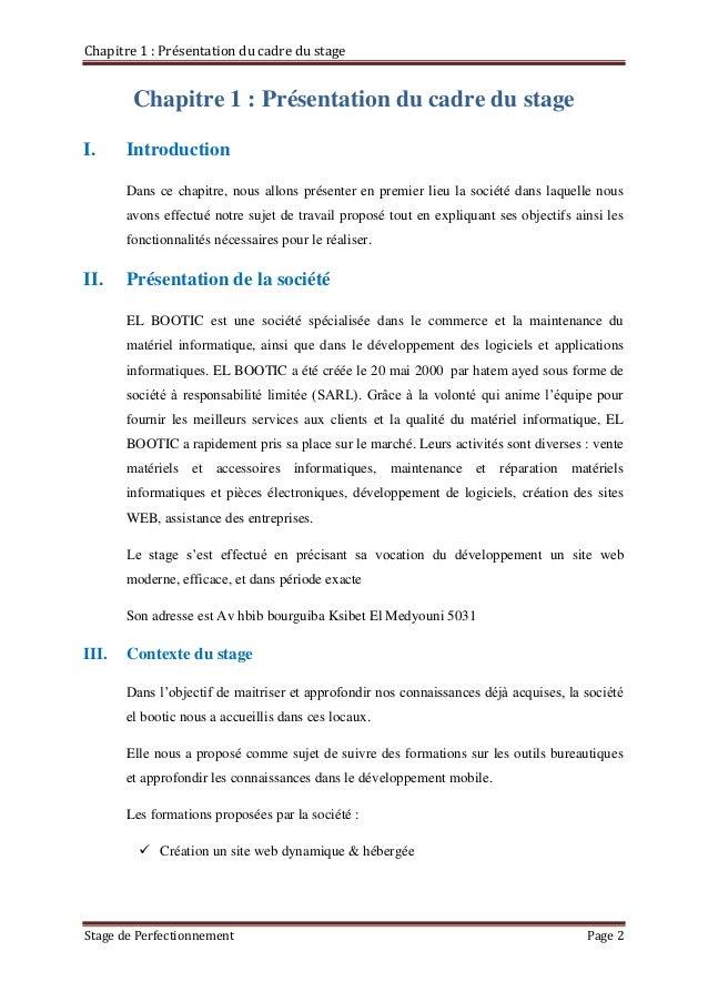 Introduction Du Rapport De Stage Exemple - Le Meilleur Exemple