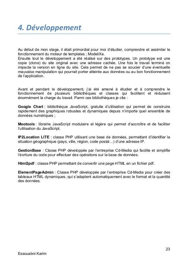 Rapport De Stage De Fin D Etudes Du Dut
