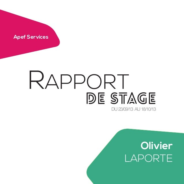 rapport de stage infographie exemple gz89