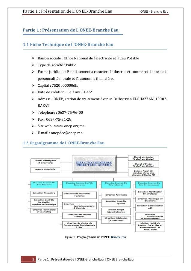 Rapport stage onee be 2 - Office national de l electricite et de l eau potable ...