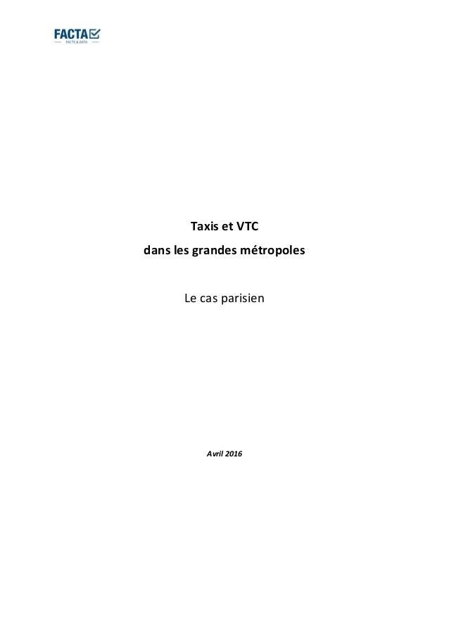 Vignette du document Taxis et VTC dans les grandes métropoles. Le cas parisien.