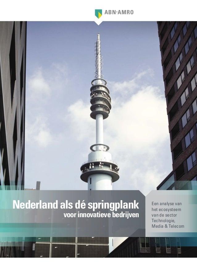 Nederland als dé springplank            Een analyse van                                        het ecosysteem           vo...