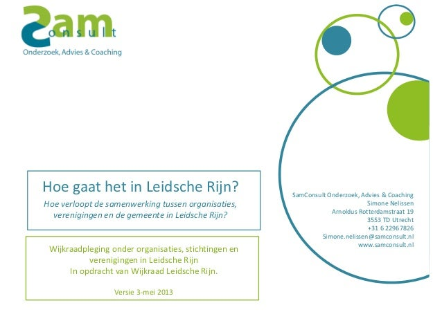 SamConsult Onderzoek, Advies & CoachingSimone NelissenArnoldus Rotterdamstraat 193553 TD Utrecht+31 6 22967826Simone.nelis...