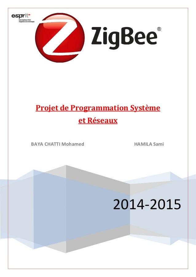 2014-2015 Projet de Programmation Système et Réseaux BAYA CHATTI Mohamed HAMILA Sami