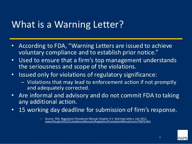Fda writing an effective 483 response letters