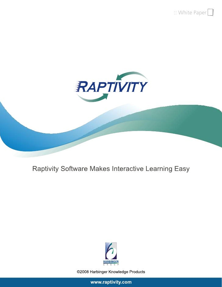 Raptivity Software Makes Interactive Learning Easy