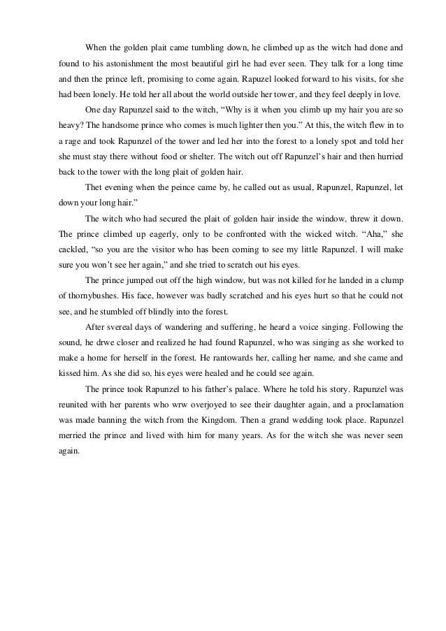 Cerita Dongeng Narrative Text Rapunzel Dalam Bahasa Inggris