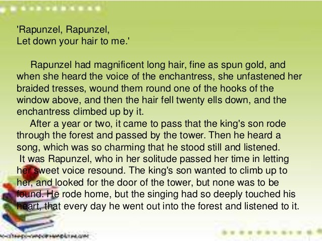 Background Of Literature In Germany Rapunzel Story