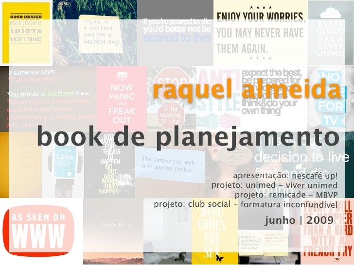 raquel almeida book de planejamento                             apresentação: nescafé up!                       projeto: u...