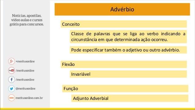 Gramática - Advérbio  Slide 3