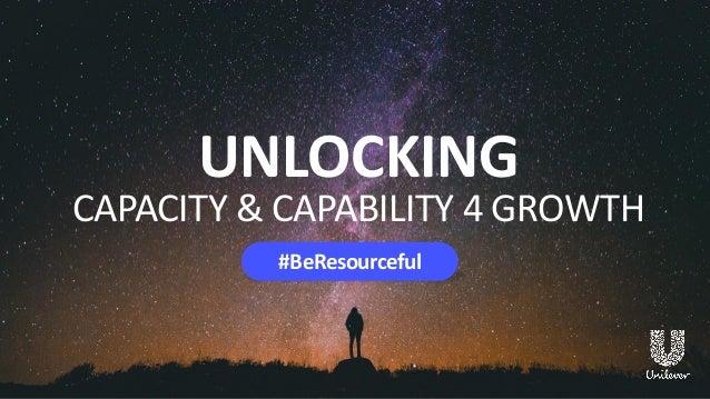 UNLOCKING CAPACITY & CAPABILITY 4 GROWTH #BeResourceful