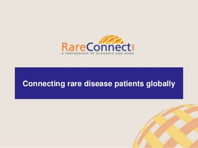 1 Connecting rare disease patients globally