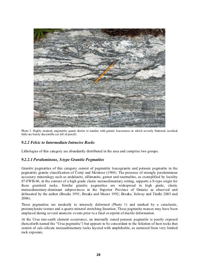 Technical Report Mount Bisson Property Rare Earth