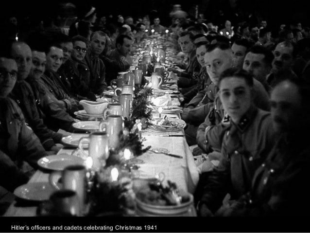 Hitler's officers and cadets celebrating Christmas 1941