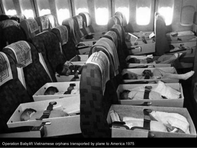 Operation Babylift Vietnamese orphans transported by plane to America 1975