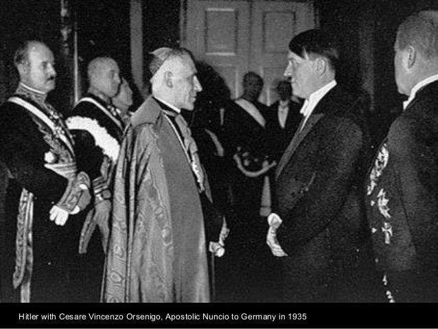 Hitler with Cesare Vincenzo Orsenigo, Apostolic Nuncio to Germany in 1935