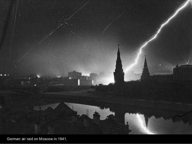 German air raid on Moscow in 1941.
