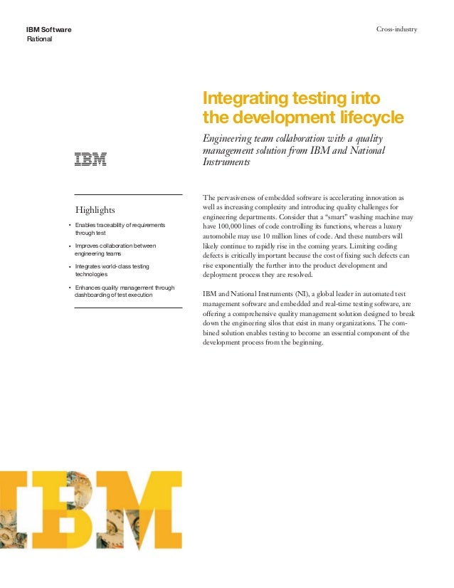Integrating testing into the development lifecycle